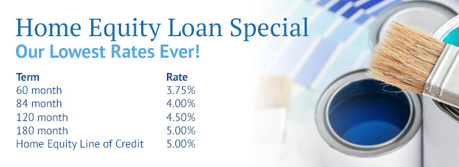 Home Equity Loan Special - Our Lowest Rates Ever!